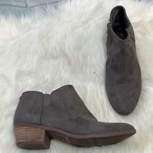 Circus By Sam Edelman Grey Suede Booties Size 8